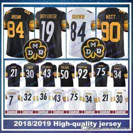 3dd217027a8 19 Juju Smith-Schuster Pittsburgh jersey 90 Steeler T.J. Watt 84 Antonio  Brown 26 Le'Veon Bell 7 Ben Roethlisberger 50 Ryan Shazier