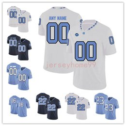 b6c726778 UNC North Carolina Tar Heels #10 Trubisky 49 Julius Peppers 98 Lawrence  Taylor 85 Eric Ebron Blue White NCAA College Football Jerseys S-4XL
