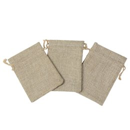 $enCountryForm.capitalKeyWord UK - Small Jute Jewelry Bags Jute Drawstring burlap bags Gift Candy Beads Bags for Handmade Soap Storage Wedding Decor