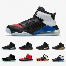 Discount fire sneakers NEW Bred Fire Red Top MARS Man Basketball Shoes PSG Shattered Backboard Black Metallic Grey Green Glow DMP Citrus Mens S