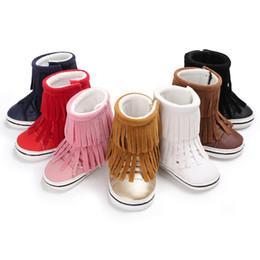 $enCountryForm.capitalKeyWord Australia - Newborn Baby Girl Boy Crochet Fur Plush Winter Warm Boots Toddler Infantil Soft Sole Anti-Slip Shoes Booties Mocassins Prewalker