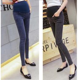 8946d09c065e4 Pregnant Women Jeans Pencil Pants Pregnant Women Maternity Bottoms Pregnant  Women Abdominal Trousers 90% Cotton Elastic 58