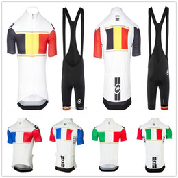 cycling jersey flags Canada - 2020 Men National flag Cycling set team Clothing Bicycle wear summer high quality products Cycling Jerseys pad bike shorts set