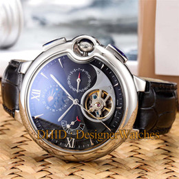 $enCountryForm.capitalKeyWord NZ - Luxury Mens Watches Fashion Import Mechanical Automatic Movement Watch Man Flywheel Day Date 46mm 316L Stainless Steel Case Leather Strap