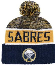 Military Green Army Beanies NZ - Discount Sport Knit hat Sabres Beanie Football Sideline Cold Weather hats Fashion beanies winter Warm Knitted Wool Skull Cap