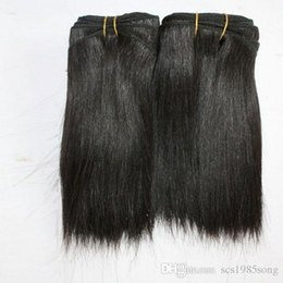 Style Hair Cuts Australia - 100g piece 2pcs lot short black natural curly brazilian hair extensions cuts short hair styles for women