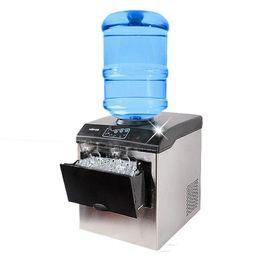 Toptan satış Buz yapma makinesi elektrikli ticari veya homeuse tezgah Otomatik mermi buz yapıcı, buz küpü makinesi, 220V HZB-25 / BF LLFA