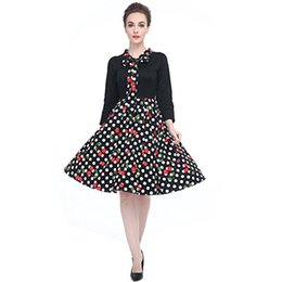 Wholesale 1950s dresses resale online – Heroecol Vintage s s Sleeve Dress Style Retro Rockabiily Cocktail Bow