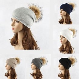 table hair Australia - Hat Tide Ms. Europe and The United States New Hair Ball Caps Autumn and Winter Outdoor Warm Wool Knit Hat