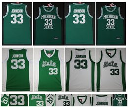 Green S Jersey Australia - 33 Earvin Johnson Jersey NCAA Michigan State Spartans College Basketball Jerseys Green White Sport Shirt Top Quality ! S-XXL