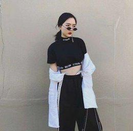 $enCountryForm.capitalKeyWord Australia - Heron Preston T Shirts Summer Embroidery Black Heron Preston T Shirt Slim High Collar Leak Navel Sexy Hp Individuality T Shirt