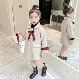 Yiyi Xiaohongren big street style fashion wild party little girl baby print European style winter coat net red baby explosion on Sale