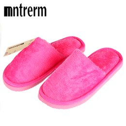 $enCountryForm.capitalKeyWord Australia - Mntrerm Plush Women Winter Home Slippers Indoor Bedroom Couple Shoes Solid Color Home Shoes Soft Warm Cotton Slippers Candy