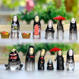 ghibli toys UK - Miyazaki Hayao Spirited Away No Face Man PVC Action Toy Figures Studio Ghibli Japanese Anime Cartoon Micro Landscape