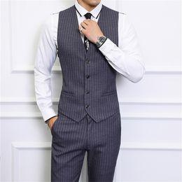 $enCountryForm.capitalKeyWord Australia - Slim design Men Striped Suit Vest with Pant Asian Size S M L XL XXL XXXL XXXXL 5XL 6XL vests waistcoat mens trousers
