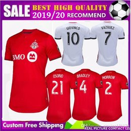 d798bbf90 FREE Ship 2019 2020 new MLS Toronto FC Away Soccer Jersey 19 20 GIOVINCO  BRADLEY ALTIDORE White Soccer Shirt 2019 Football Jersey Uniform