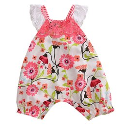 infant suits wholesales Canada - Newborn Infant Toddler Girl Floral Bodysuits Sleeveless Jumpsuit Body suit Summer Casual Clothes One-pieces Outfit 0-24M