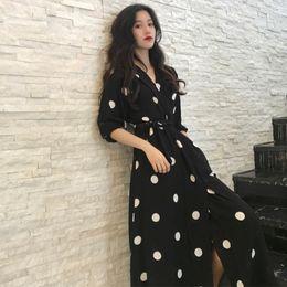 $enCountryForm.capitalKeyWord Australia - Superaen Summer Women's Dress Korean Style Fashion V-neck Ladies Long Dress Casual Half Sleeve Dot Dress Female New 2018 J190622
