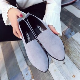 Ladies Soft Canvas Shoes Australia - A20 hot selling womens fashion shoes new style ladies flat shoes high quality canvas leather soft soles shoes with box size35-41