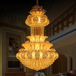 $enCountryForm.capitalKeyWord UK - Large Led Modern Chandelier Lighting Luxury K9 Chrome Crystal Chandeliers Three Light Colors Lustre Living Room Lobby Hotel LLFA