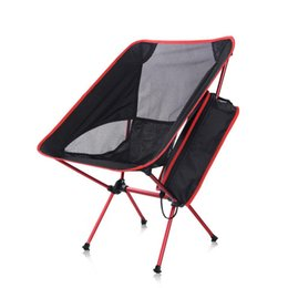 bbq fish tool UK - HobbyLane Portable Folding Fishing Chair Camping BBQ Tool Breathable Hiking Seat Furniture Garden Ultralight Outdoor Sport