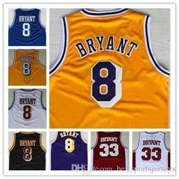 Großhandel billiger Basketball Jersey, Herren 33 8 Kobe 24 Bryant Throwback Basketball genähte Logos alle Stil Trikots im Angebot