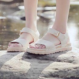 $enCountryForm.capitalKeyWord Australia - Sandals Female Summer Thick-Soled Muffin Roman Sandals Flat-Bottomed Beach Shoes summer women shoes women