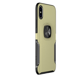 Car Phone Holders For Iphone UK - Ring Car Phone Holder Kickstand Case Magnetic Adsorption Phone Case Cellphone Cover for iPhone XR XS MAX X 8 7 Plus Samsung Note 9 S9