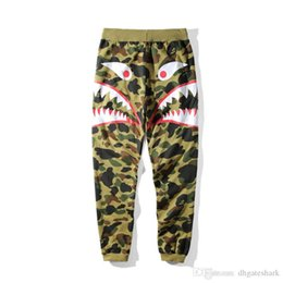 $enCountryForm.capitalKeyWord Australia - Autumn Winter New Men ' ;S Camouflage Shark Mouth Printing Casual Pants Men Women Loose Camouflage Long Pants