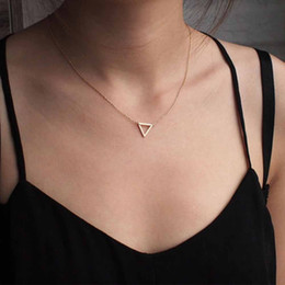 Simple triangle necklace online shopping - KISSWIFE Simple Chains Necklaces Triangle Necklace Delicate Minimal Triangle Necklace For Women Charm