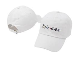 Vente en gros Casquette FINESSE blanche Snapback Casquettes snapback Design personnalisé exclusif Marques hommes femmes Casquette de baseball golf réglable