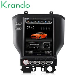 "Ford Touch Screen Stereo Australia - Krando Android 6.0 10.4"" Tesla Vertical screen car DVD player GPS for Ford Mustang 2015-2018 multimedia player navigation system wifi"