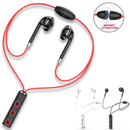 $enCountryForm.capitalKeyWord Australia - Sport Wireless Bluetooth Earphones Headphones HD Stereo With Mic Bluetooth In Ear Headset BT313 Magnetic Earbuds For IOS Android Phone