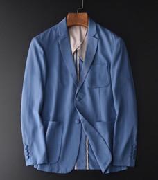 Wholesale blazers for men resale online - New Lyocell Men s Blazers Spring And Autumn Blue Blazer For Men Plus Size XL Luxury Slim Fit Casual Blazer Jacket Men