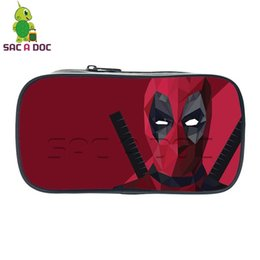pencil case bag stationery holder NZ - Deadpool Small Cosmetic Cases Pencil Holder Kids Boys Girls School Case Stationery Bag Students School Supplies