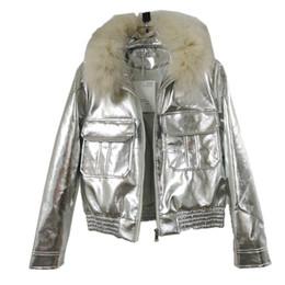 $enCountryForm.capitalKeyWord NZ - Streetwear Winter New plus size women fox hair thin skin fur coat crop top thick hair slim PU leather jacket