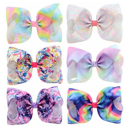 Baby Sequin Hair Clips Wholesale Australia - fashions 8 Inches jojo siwa bows baby girl hair barrettes Sequins Mermaid Unicorn Clippers Girls Hair Clips JOJO SIWA Hair Accessories