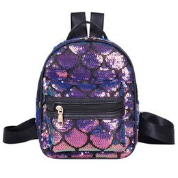 $enCountryForm.capitalKeyWord Australia - Bagpack Parent-Child Women Fish Scale Sequin School Backpack Shoulder Bag Student Bag Dropshipping mochila bolsos plecak