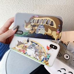 Discount iphone bus - New Fashion Carton Style Phone Case for IphoneX XS XR XSMAX IphoneX Iphone7 8Plus Iphone7 8 Iphone6 6sP 6 6s with Totoro