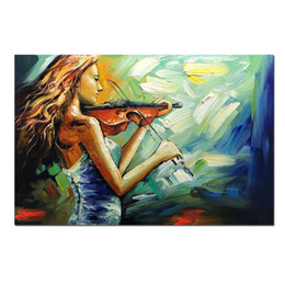 $enCountryForm.capitalKeyWord Australia - Canvas handmade modern abstract landscape oil painting decorative wall pictures nights cape beauty violin oil painting for home decor