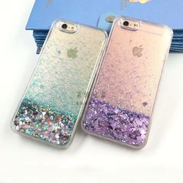 $enCountryForm.capitalKeyWord Australia - NEW Transparent heart quicksand shell liquid soft edge package Phone Back cover For Iphone 5 6 6s plus 7 7plus 8 8plus x Samsung S6 S7