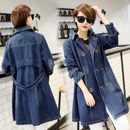$enCountryForm.capitalKeyWord Australia - Fashion 2018 Autumn Plus Size Jeans Jacket Women Long Sleeve Lapel Long Denim Jacket Women Double-Breasted Denim Overcoat