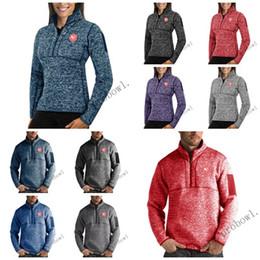 $enCountryForm.capitalKeyWord Australia - Basketball Atlanta LOGO Antigua Mens Womens Fortune Half-Zip Sweater Pullover Jackets- Heather Navy Charcoal Purple Grey Royal