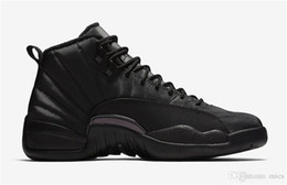 Real Authentic Shoes UK - 2018 Authentic Air 12 WNTR Black Anthracite Men Basketball Shoes Gym Red Real Carbon Fiber 6851Jordan Sports Sneakers BQ6851-001 With Box