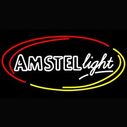 Bedroom Neon Signs Australia - Glasgow Rangers Football Club Amstel Light Oval Neon Bedroom Bar Sign 17*14 Inch Or Customized Size