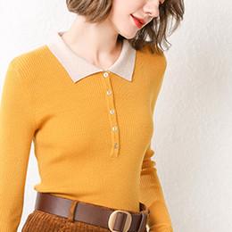 $enCountryForm.capitalKeyWord Australia - Jeseca 2019 Autumn Winter New Turn-down Collar Sweater Korean Harajuku Knitted Pullovers Girls Cute Christmas Sweater Jumper Top