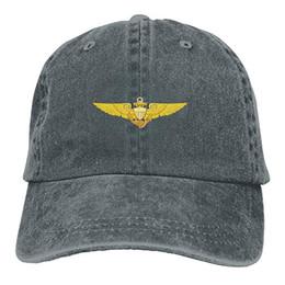$enCountryForm.capitalKeyWord UK - 2019 New Cheap Baseball Caps Mens Cotton Washed Twill Baseball Cap US Navy Pilot Wings Hat