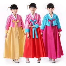 $enCountryForm.capitalKeyWord Australia - National Baby Girls Dance Performance Clothes Full Sleeve 2pcs Cosplay Costume Traditional Korean Clothing Kids Hanbok Dress