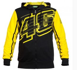 motorcycle uv jacket NZ - New motorcycle racing casual sweater MOTO-GP 46 series autumn cotton printed hooded sweater jacket for men and women