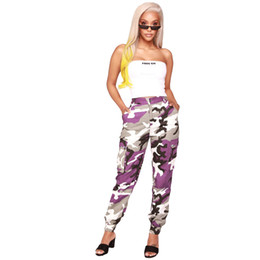camouflage outfits women Australia - Purple Camouflage Cargo Pants Hip PopTrends Fashion Ladies Girls Sexy New LS6114 Camo Leopard Club Party Outfits Streetwear Clubwear